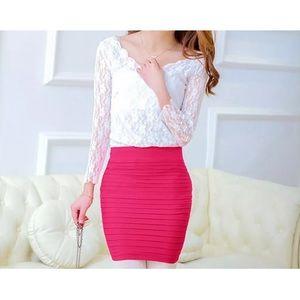 Dresses & Skirts - Pink pencil skirt